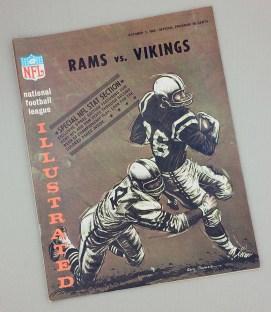 Los Angeles Rams Minnesota Vikings 1965 Game Program