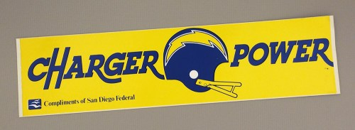 """San Diego Chargers """"Charger Power"""" Bumper Stickers"""