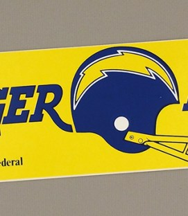 "San Diego Chargers ""Charger Power"" Bumper Stickers"