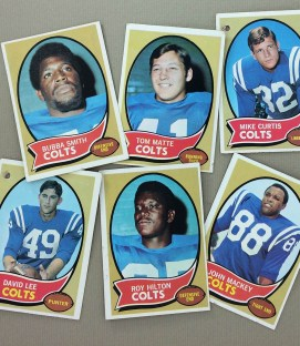 Baltimore Colts 1970 cards