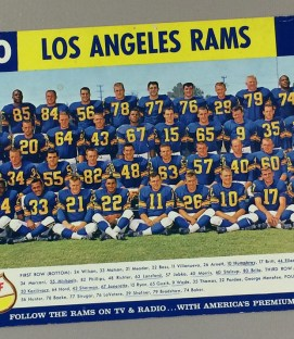 Los Angeles Rams 1960 Team Photo