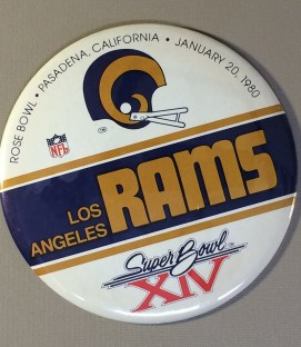 Super Bowl XIV 1979 Rams Button