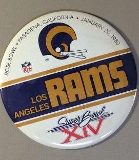 Super Bowl XIV 1979 Rams Button
