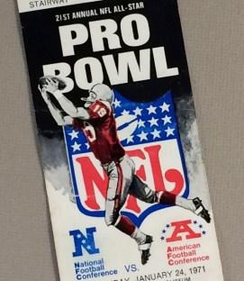 Pro Bowl 1971 Ticket