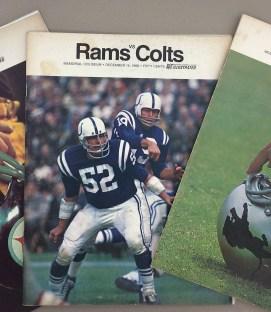 Los Angeles Rams 1968 Program 3 Pack