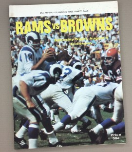 Los Angeles Rams vs Cleveland Browns 1966 Program