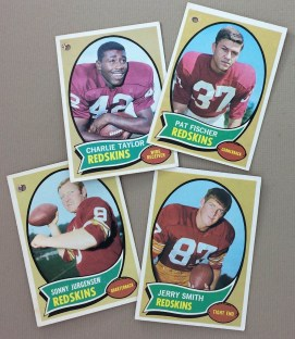 Washington Redskins 1970 cards