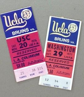 1976 UCLA Ticket Stubs