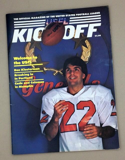 February 25th, 1985 LA Express vs Houston Gamblers Game Program