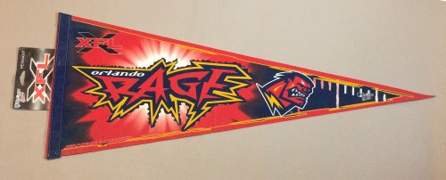 Orlando Rage XFL Team Pennant