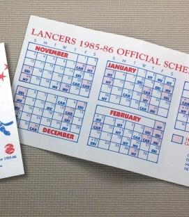 Virginia Lancers 1985-86 Schedule