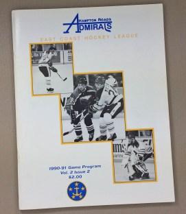 Hampton Roads Admirals 1990-91 Program