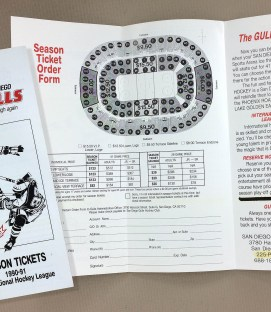 1990-91 San Diego Gulls Ticket Brochure