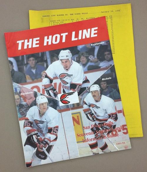 San Diego Gulls 1991-92 Yearbook