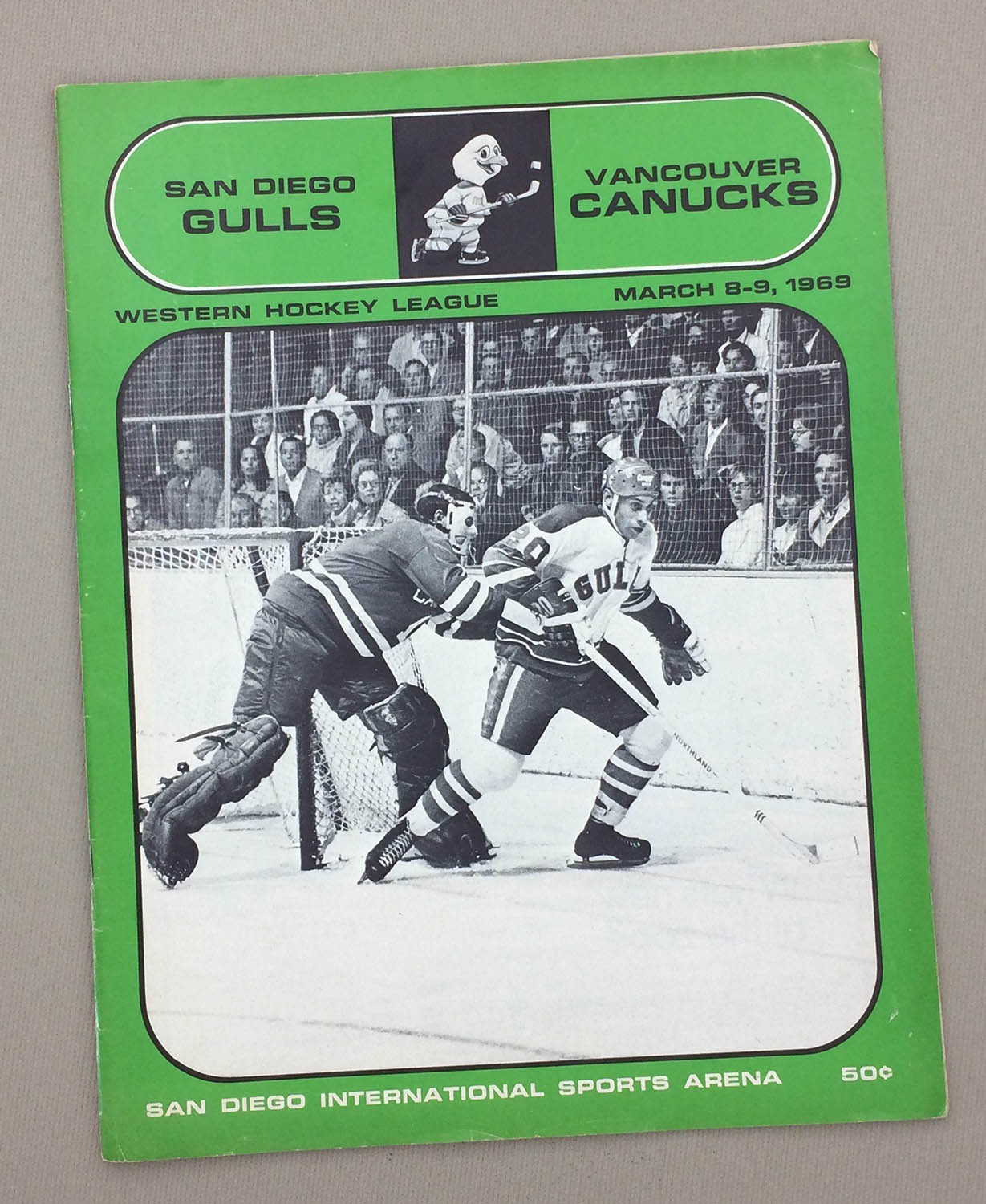 San Diego Gulls March 1969 Program Sportshistorycollectibles Com