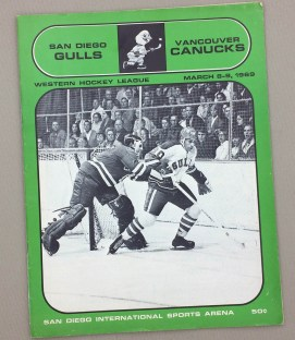 San Diego Gulls March 1969 Program