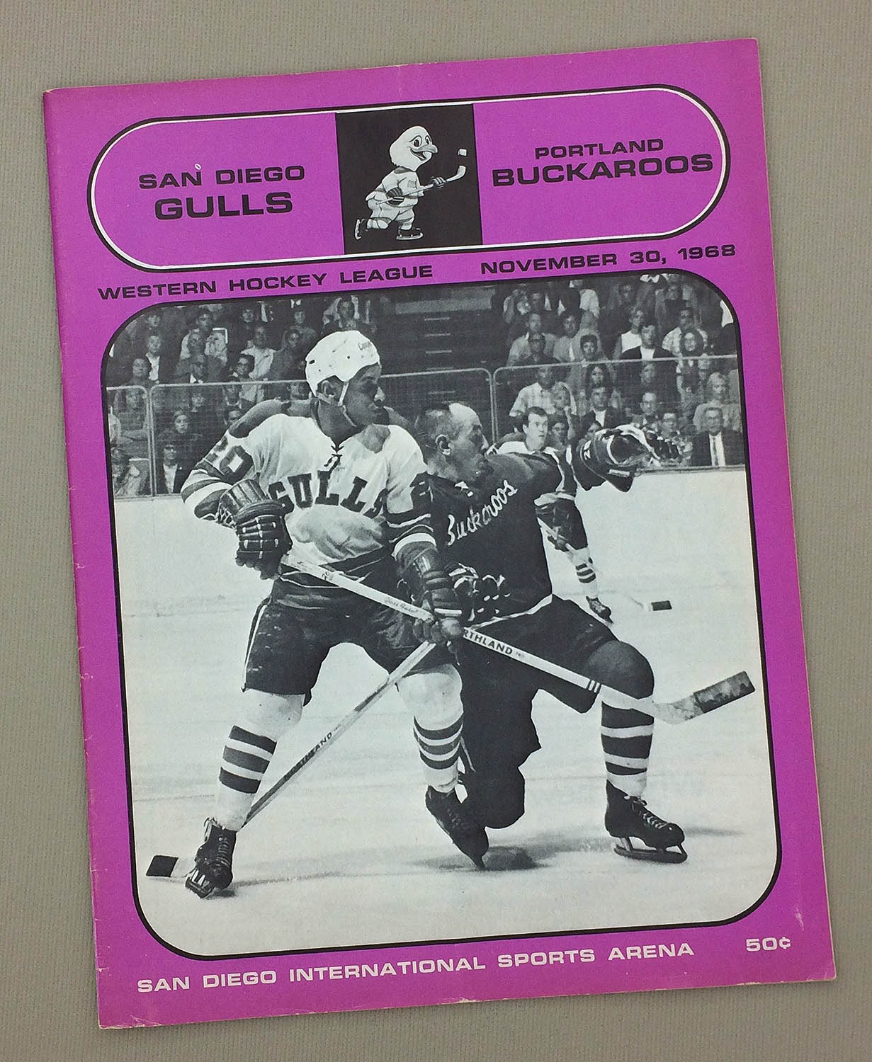 San Diego Gulls November 1968 Program Sportshistorycollectibles Com