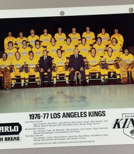 Los Angeles Kings 1976-1977 Team Photo