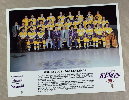 Los Angeles Kings 1981-1982 Team Photo