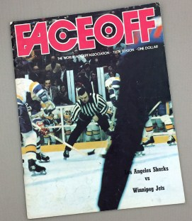 1973-74 LA Sharks vs Winnipeg Jets  Game Program