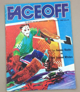 1973-74 LA Sharks vs New England Whalers  Game Program
