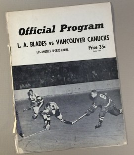 Los Angeles Blades early '60's Game Program