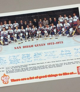 1972-73 San Diego Gulls Team Photo