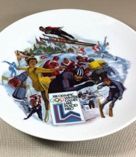1980 Lake Placid Olympics Commemorative Plate