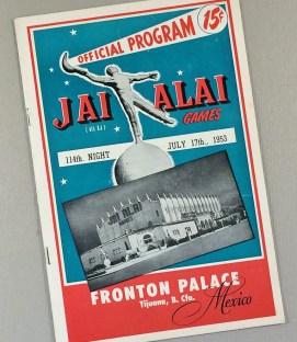 1953 Tijuana Jai Alai Program