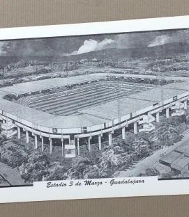 Estadio Tres de Marzo vintage Postcard
