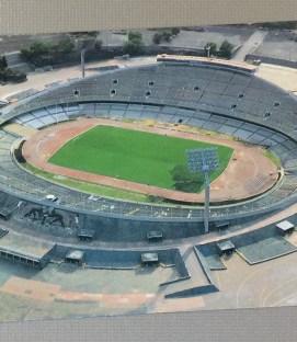 Postcard of Mexico City's Estadio Olímpico