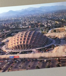 Postcard of El Palacio de los Deportes in Mexico City