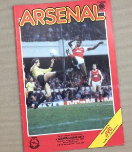 Arsenal 1985 Match Program