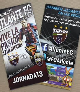 Atlante FC 2012 Programs