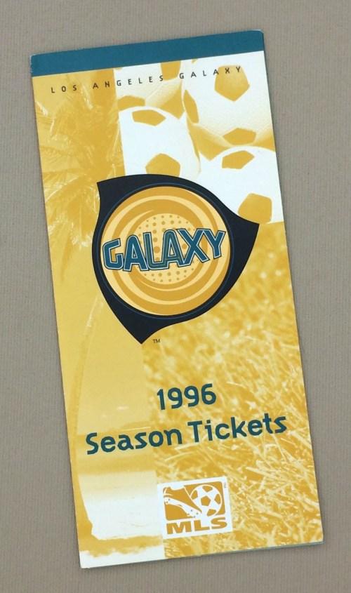 Los Angeles Galaxy 1996 Inaugural Season Ticket Brochure