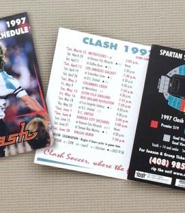 San Jose Clash 1997 Schedule