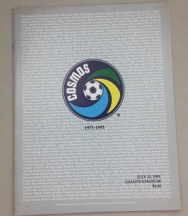 New York Cosmos 1991 Reunion Game Program
