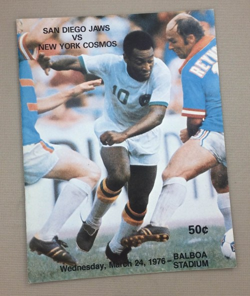 San Diego Jaws vs Cosmos 1976 NASL Program
