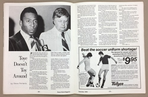 Clive Toye and Pele
