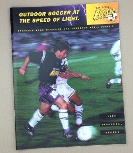 San Diego Flash 1998 Inaugural Game Program