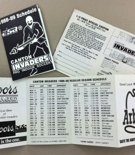 Canton Invaders 1988-89 Schedule
