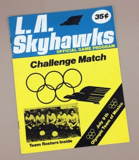 1977 LA Skyhawks vs Mexico Scorecard