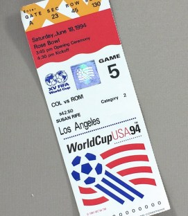 World Cup '94 Colombia Romania Ticket Stub