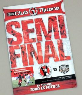 2010 Tijuana Xolos Playoff Game Program
