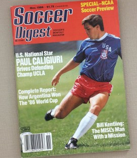 Soccer Digest November 1986
