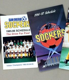 San Diego Sockers 1980s Schedule Set