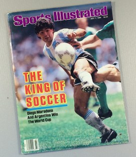 "July 7th, 1986 Sports Illustrated Cover ""The King Of Soccer"""