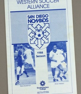 San Diego Nomads 1988 Program