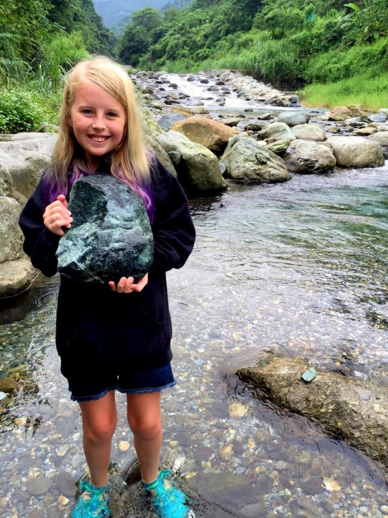 Look what I found! A huge rock bigger than my head!