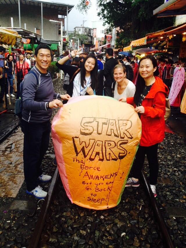 We Love Star War So Much That We Wrote It On Our Skylantern in Pinxi